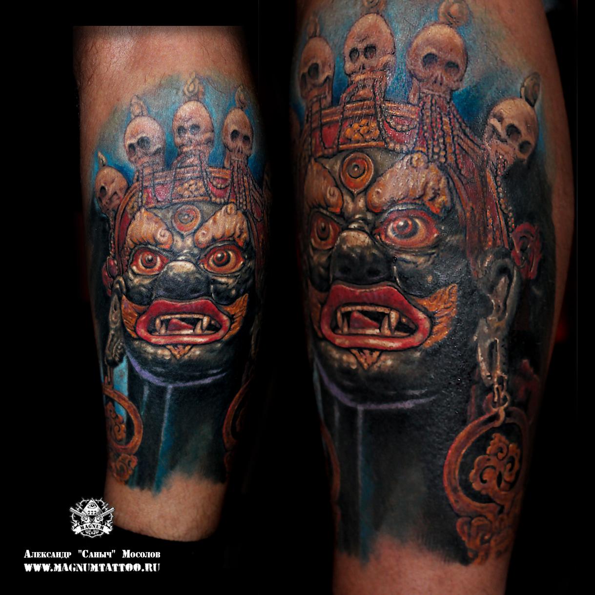 Тату масок 259 лучших фото татуировок 2018 года - KissMyTattoo